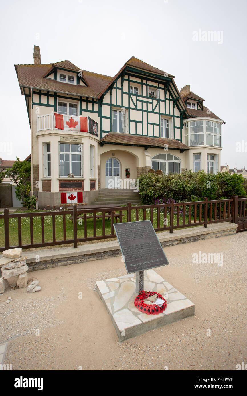 Canada House Juno Beach Bernieres Sur Mer Normandy France Stock Photo Alamy