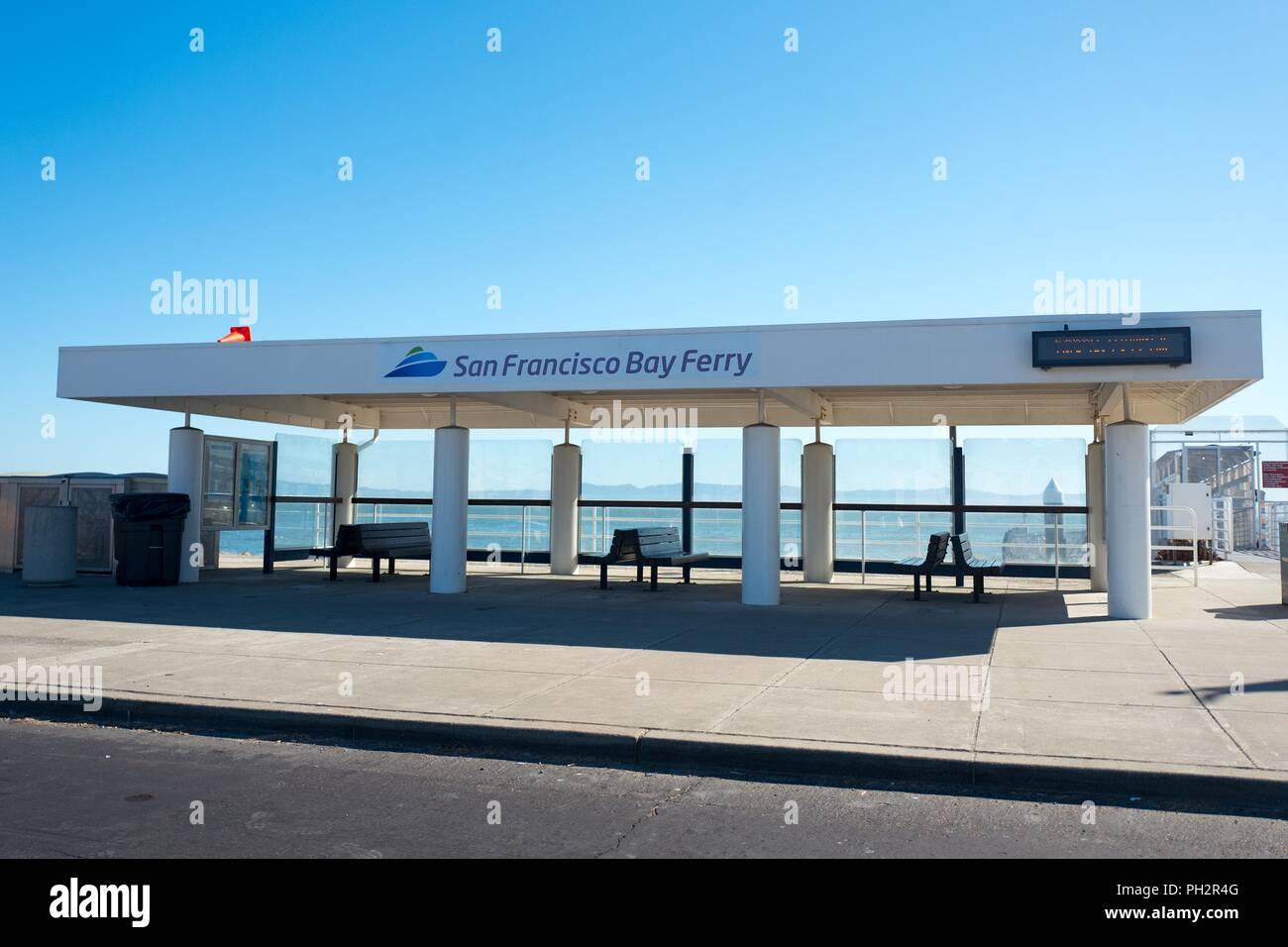 terminal for the san francisco bay ferry on bay farm island, alameda