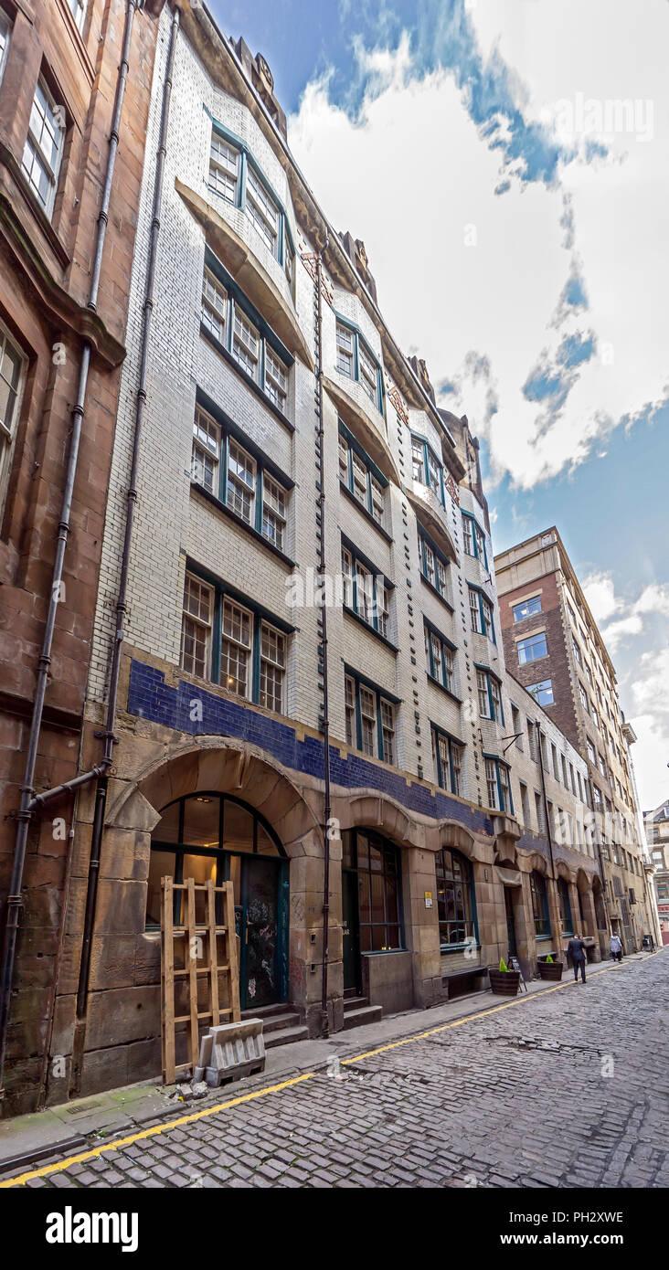Charles Rennie Mackintosh designed former Dailyl Record Building in Renfield Lane Glasgow Scotland UK - Stock Image