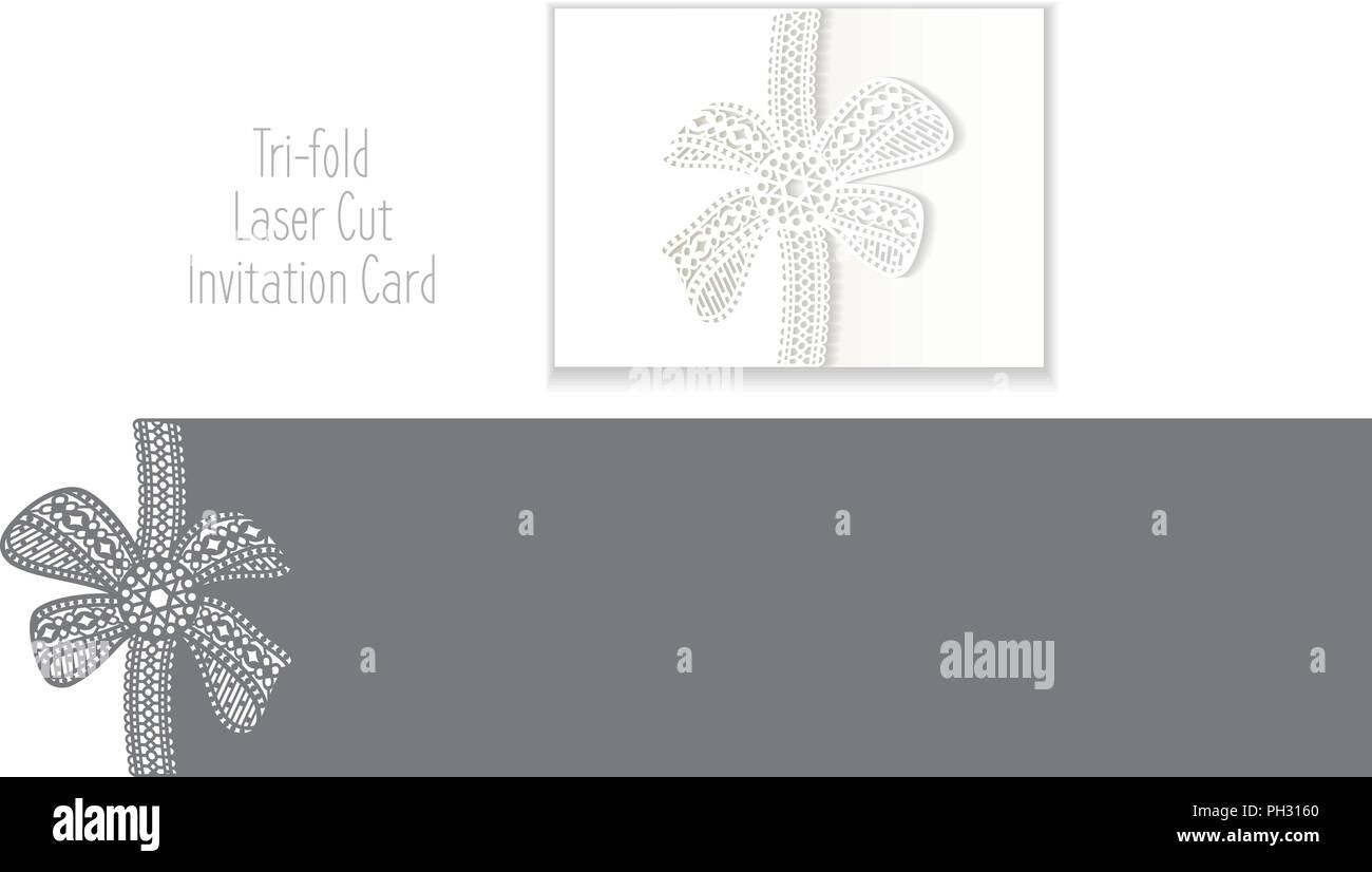 Laser Cut Envelope Template For Invitation Wedding Card Paper Greeting With Lace Border Out Cutting