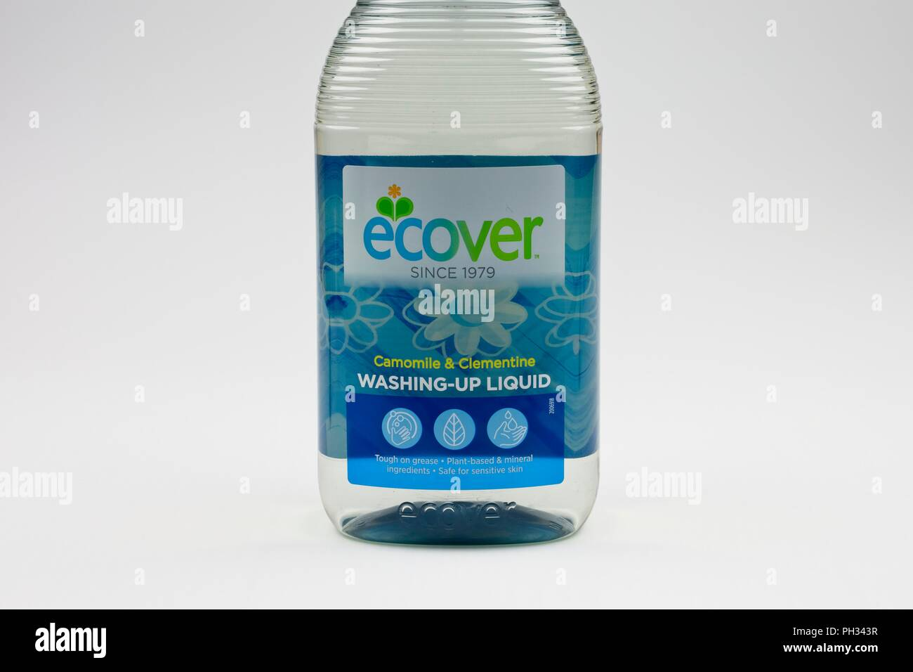 Ecover, ecological washing up liquid in a bottle - Stock Image