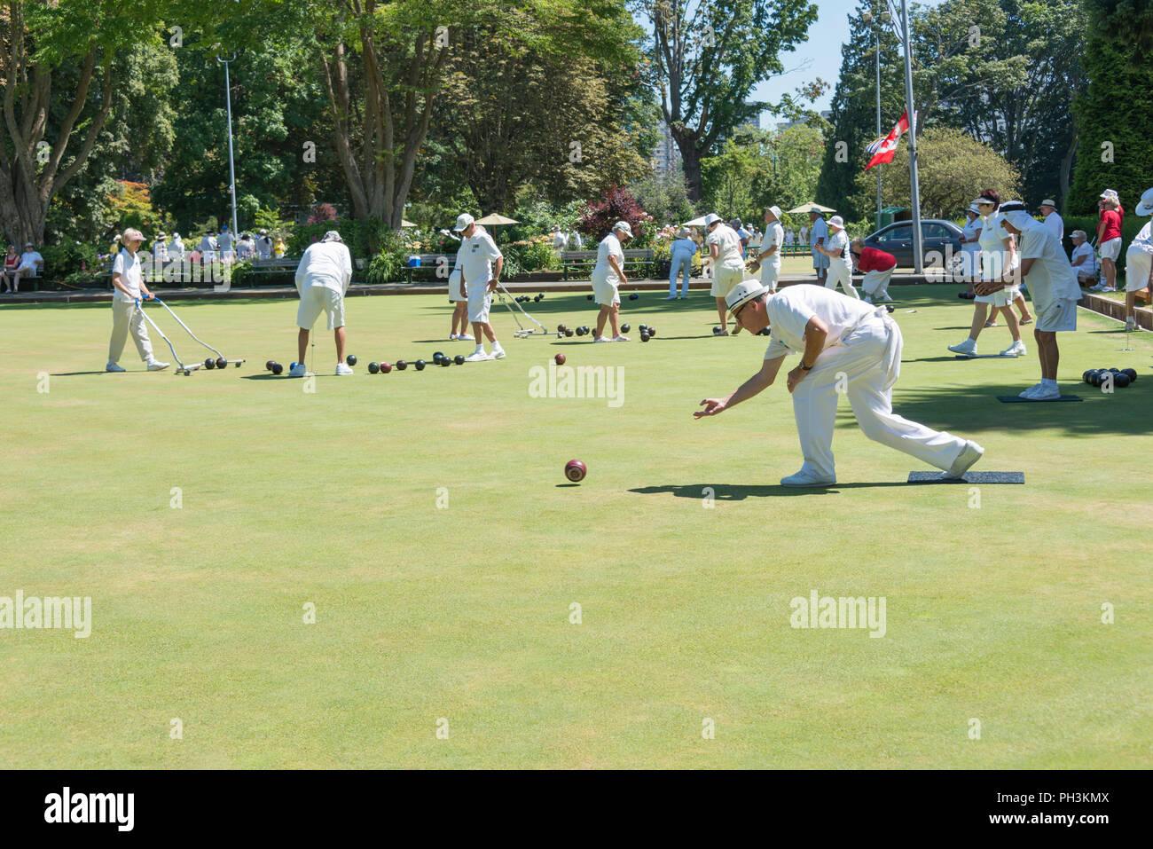 Lawn Bowling - Stock Image