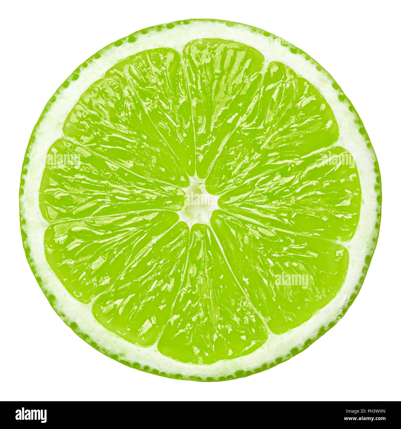 lime slice, clipping path, isolated on white background Stock Photo: 217059773 - Alamy