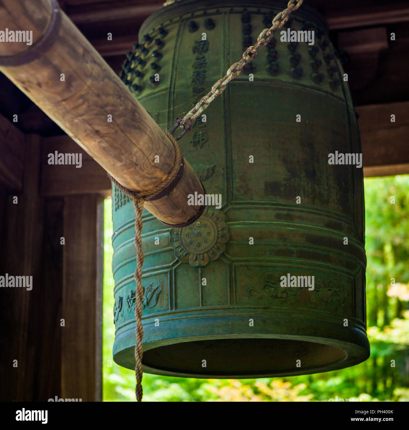 Temple Bell in Hokoku-ji Temple in Kamakura, Japan. - Stock Image
