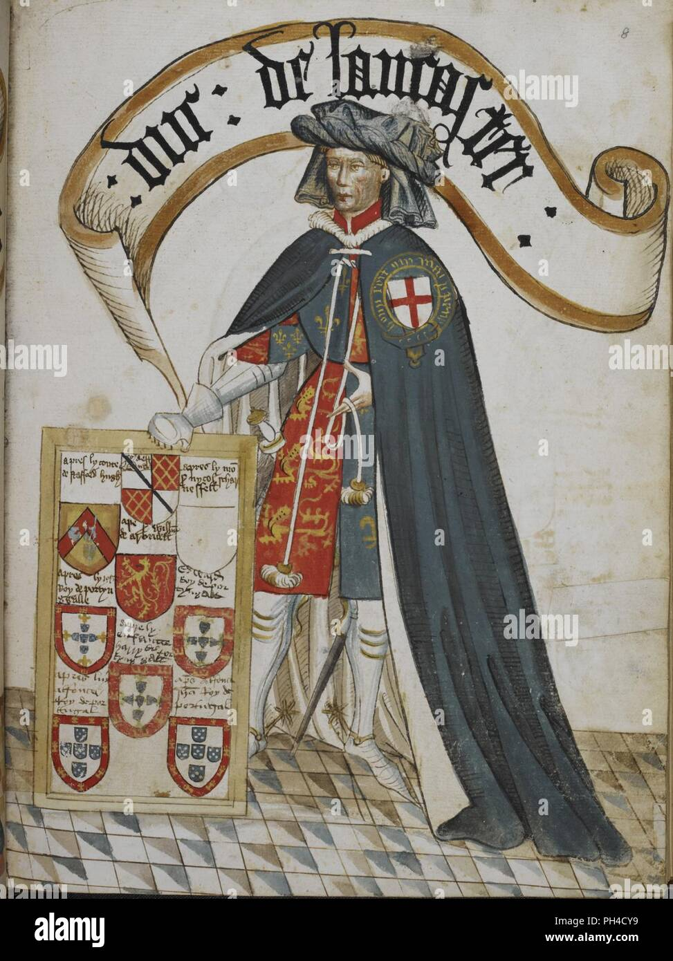 Order Of The Garter Stock Photos Images Spoon Fork Ub 2 Blue Diamond William Brugess Book Portrait Henry Duke Lancaster A Knight