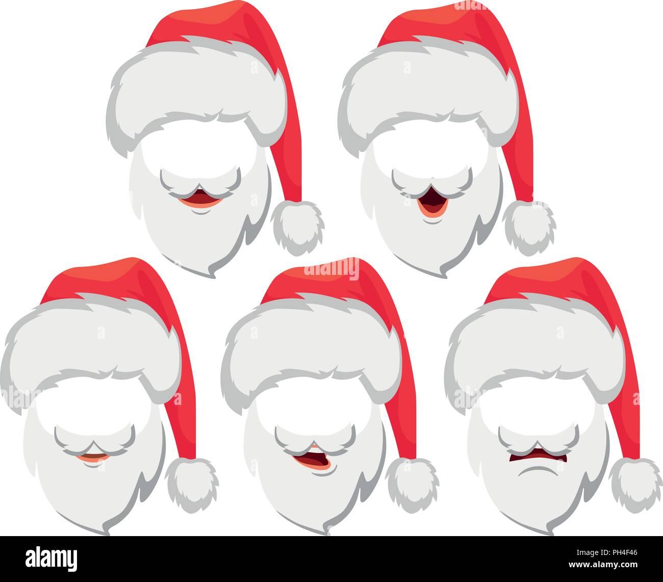 1100902fa7988 Santa Claus hat and beard. Santa Claus vector illustration Stock ...
