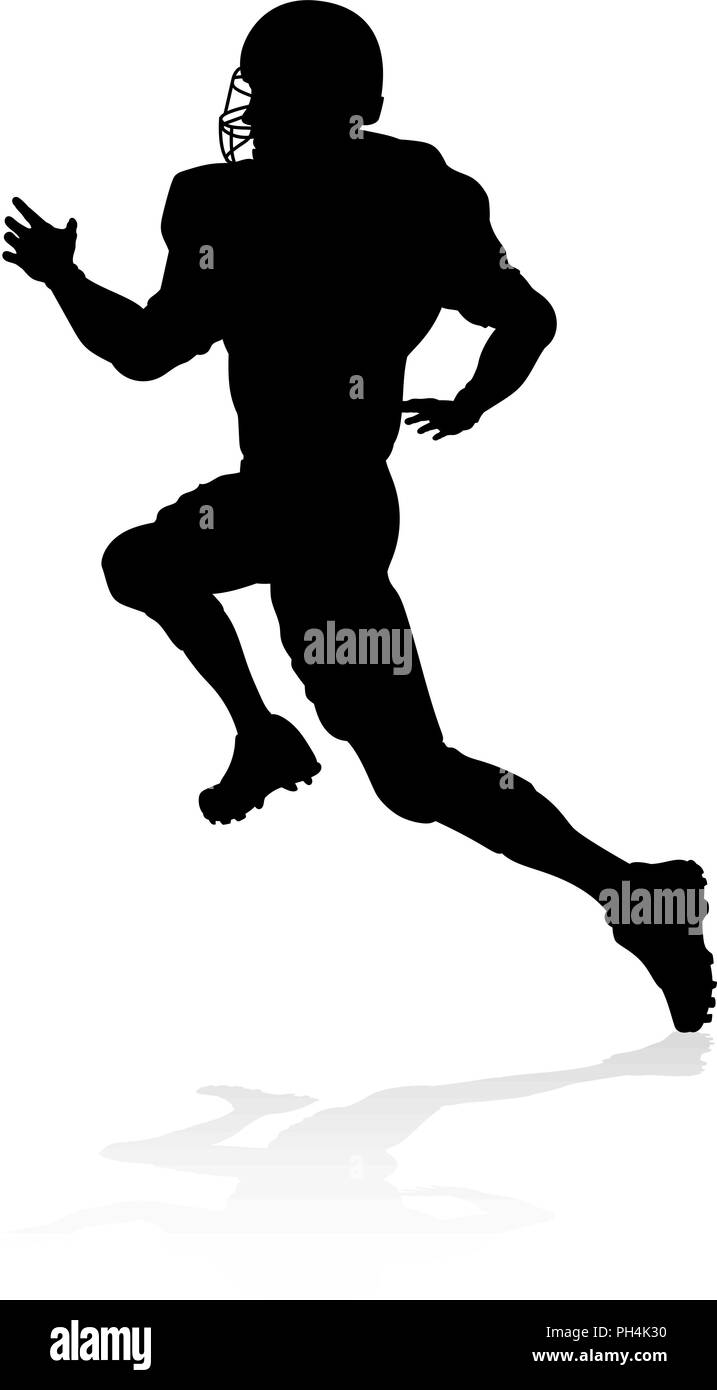 American Football Player Silhouette - Stock Vector