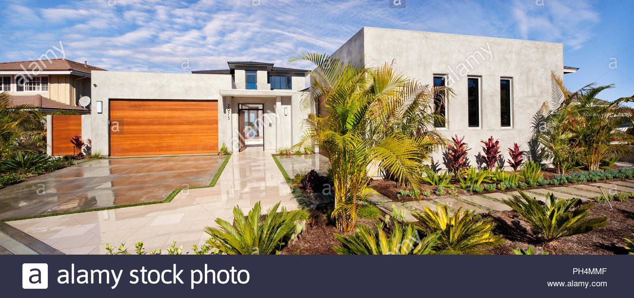 Exterior of house - Stock Image