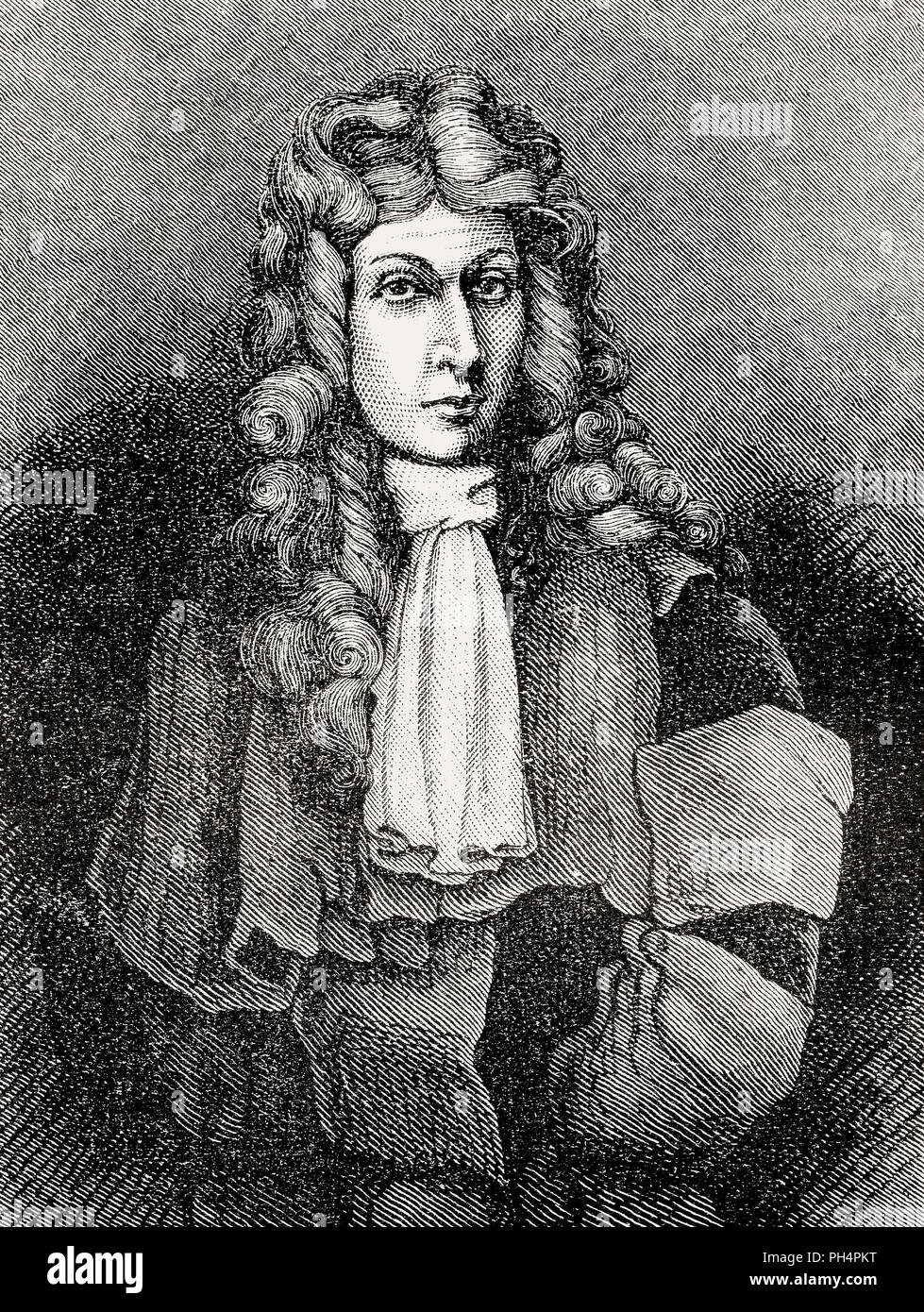 Sir George Lockhart of Lee, 1673 – 1731, a Scottish writer, spy and politician - Stock Image