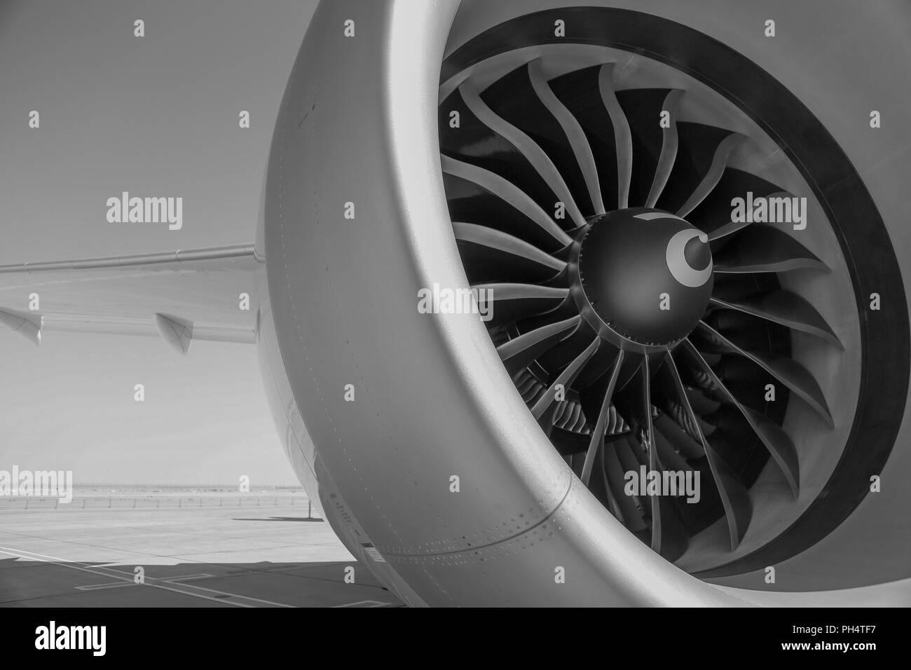 Aircraft Jet Engine - Stock Image