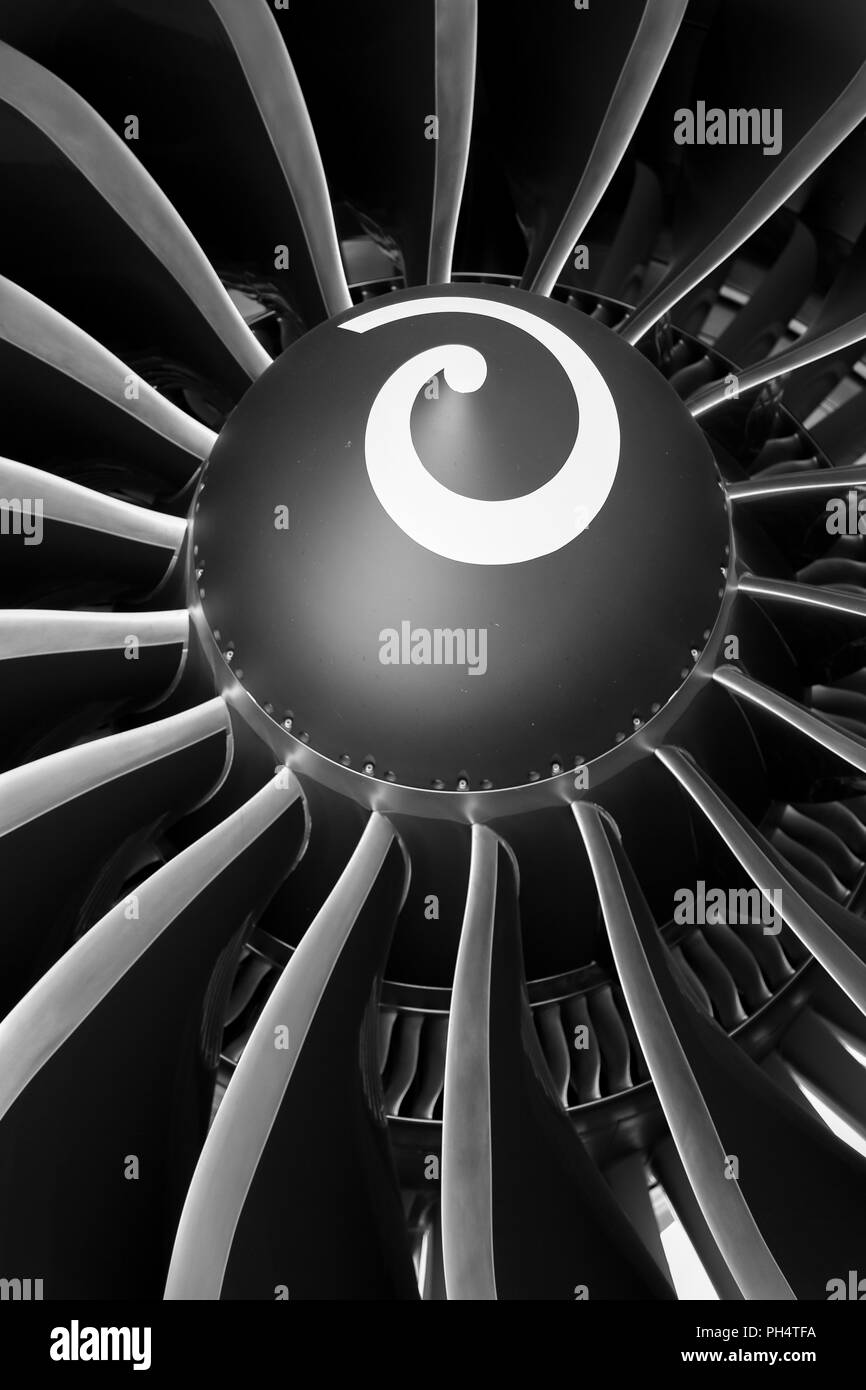 Aircraft Jet Engine - Stock Image