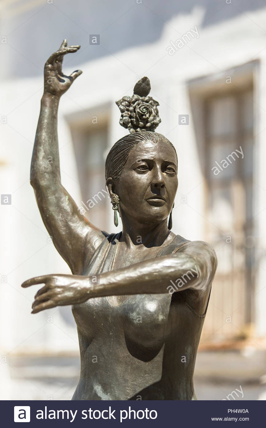 Statue of Conchita Aranda in Andalucia, Spain - Stock Image