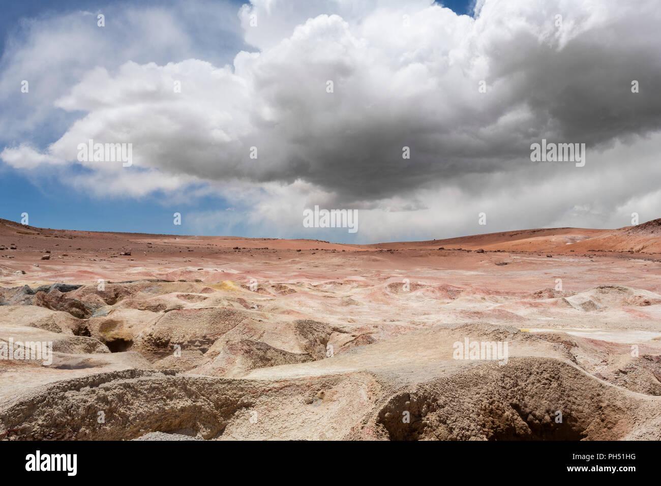Malerische Landschaft, Hochebene, Hochwüste, Bolivien, West-Bolivien, altiplano - Stock Image