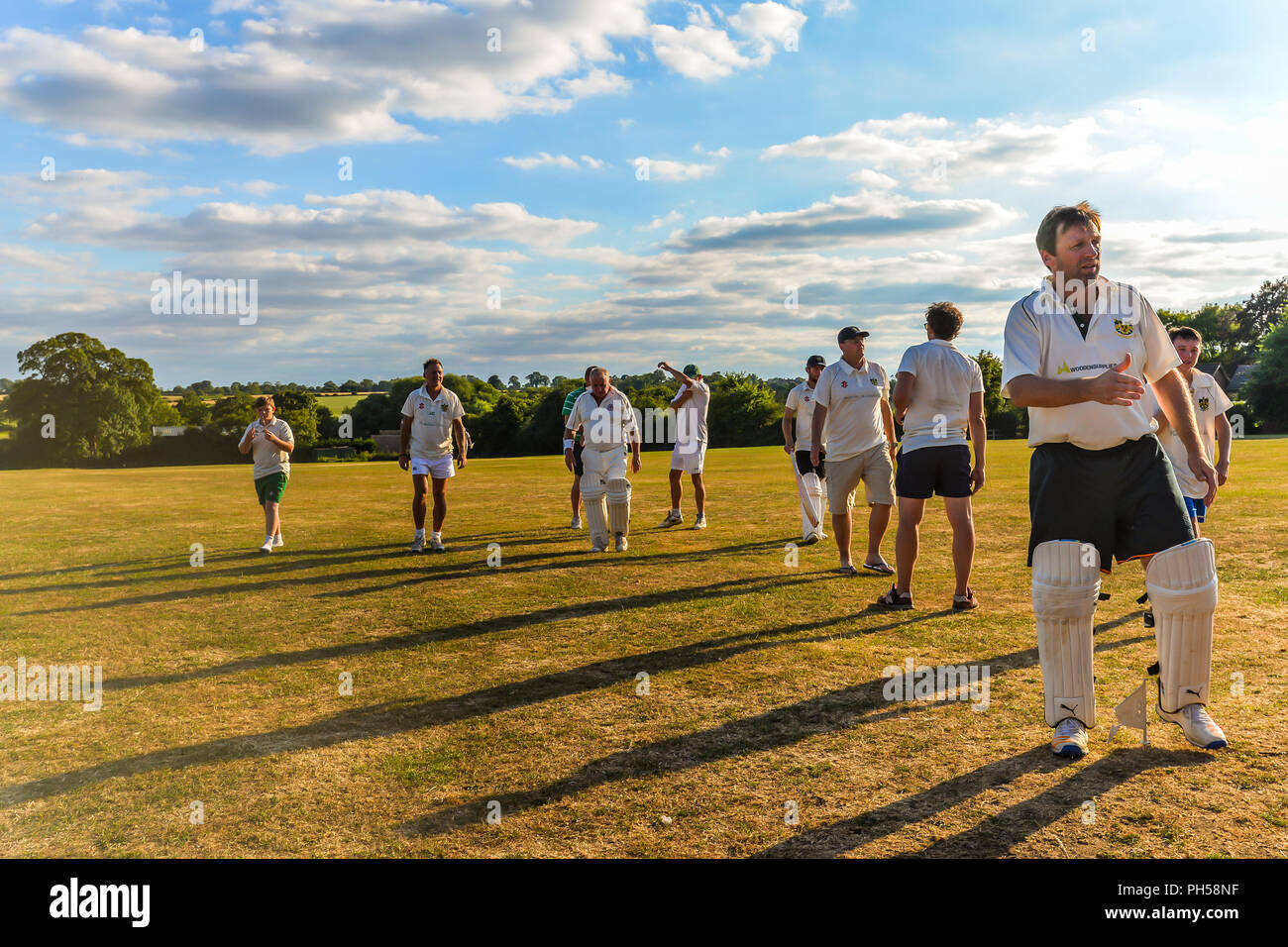 Blaksley - UK - 08/05/18 - Summer cricket in Northamptonshire - Blaksley - UK Stock Photo