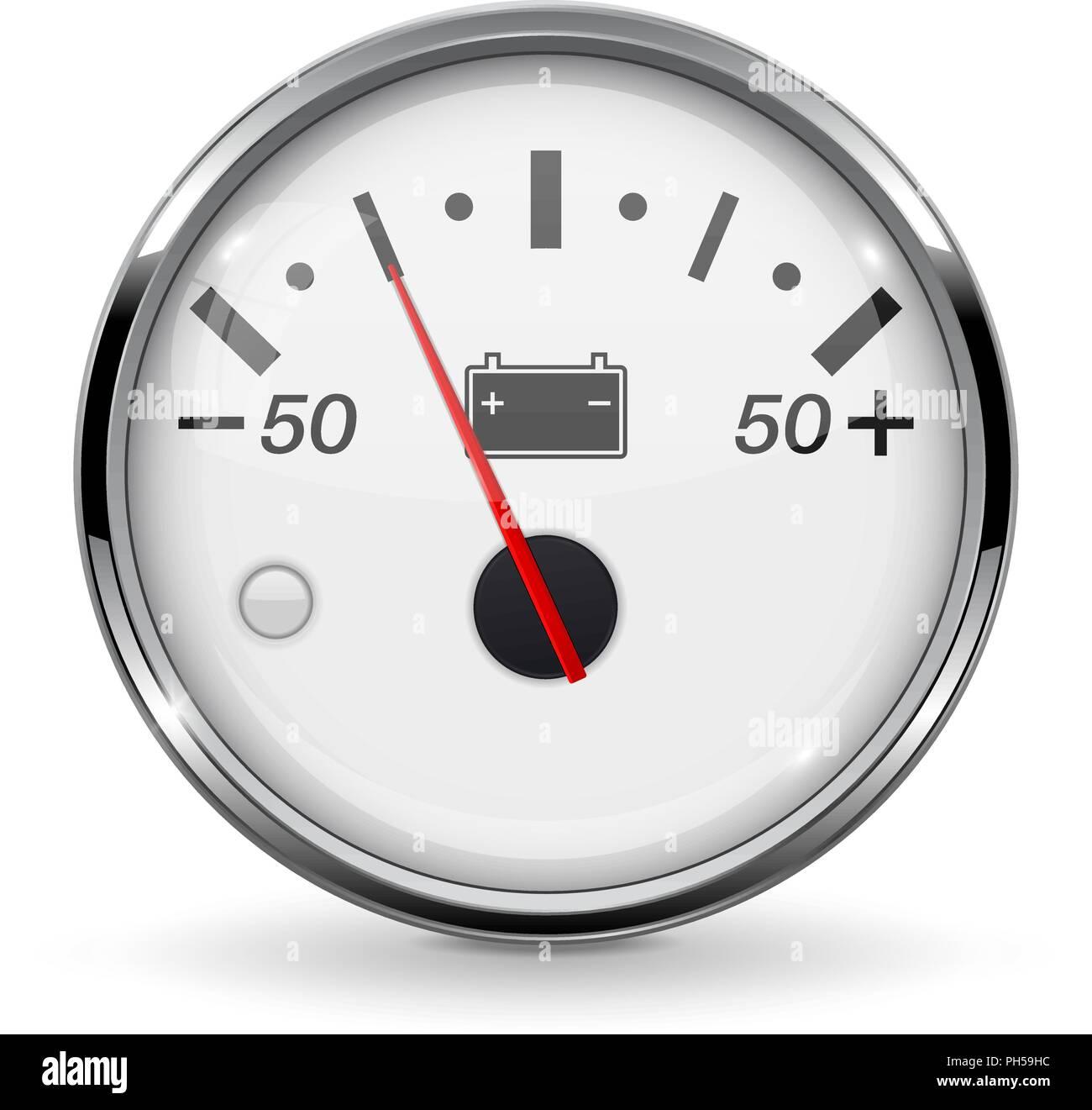 Accumulator gauge. Low level - Stock Vector