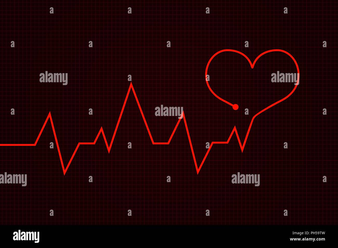 Heartbeat cardiogram graph with red heart stock vector art cardiogram graph with red heart ccuart Gallery