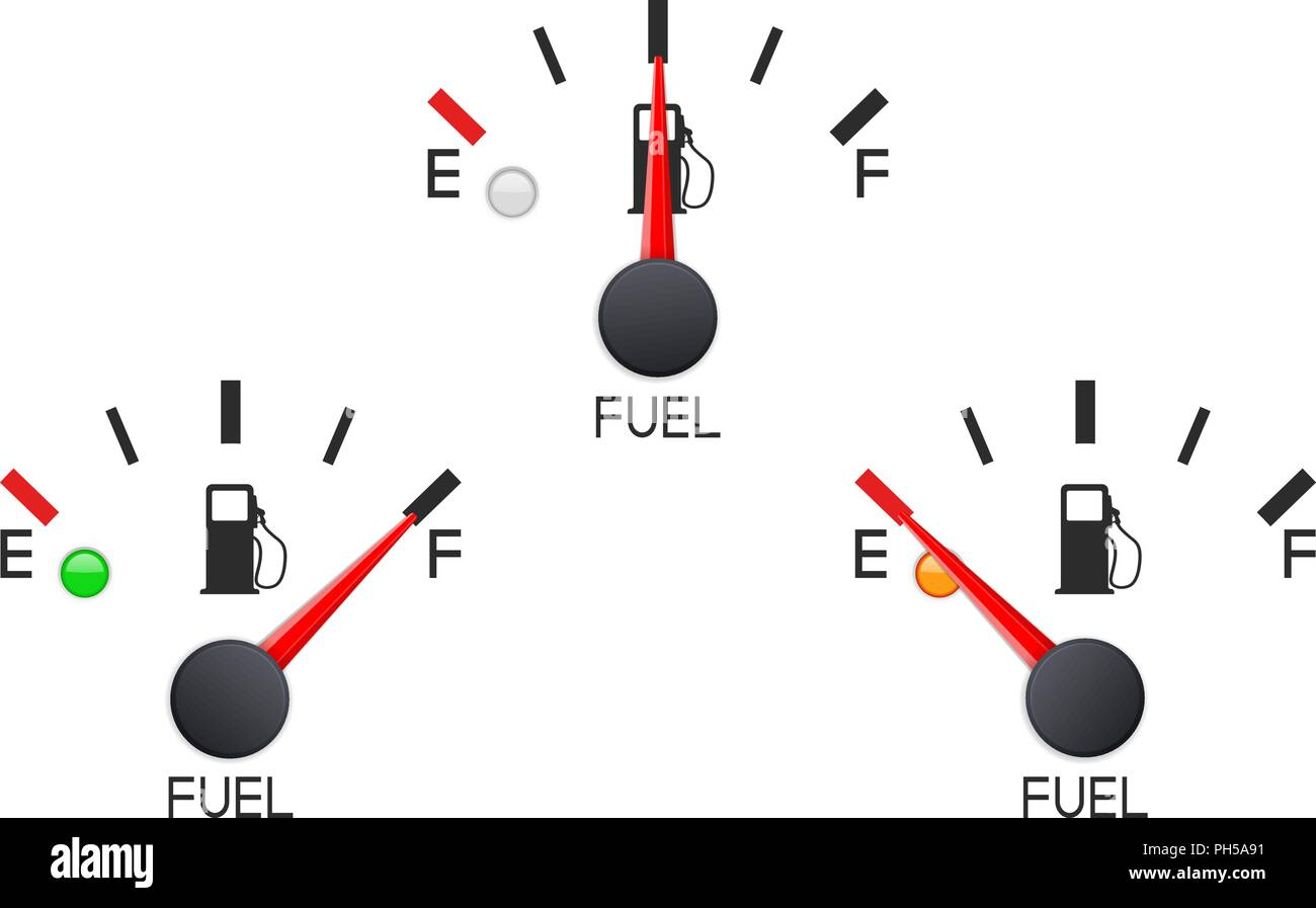 Fuel Gauge Set Of Car Dashboard Scales Stock Vector Art Diagram