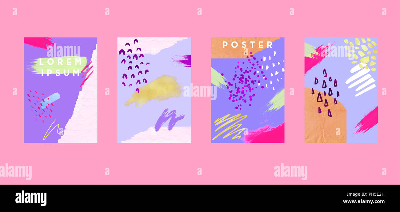 poster with retro shapes cool colorful backgrounds applicable for
