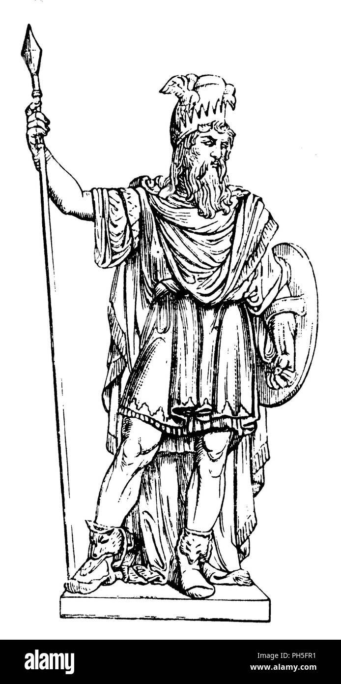 Odin. By B. E. Fogelberg,   1881 - Stock Image