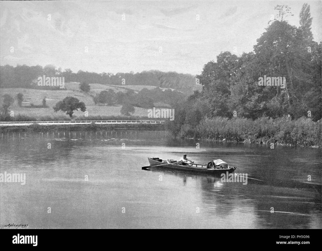'The Thames at Runnymede', c1896. From Pictorial England and Wales. [Cassell and Company, Limited, London, Paris & Melbourne, c1896] - Stock Image