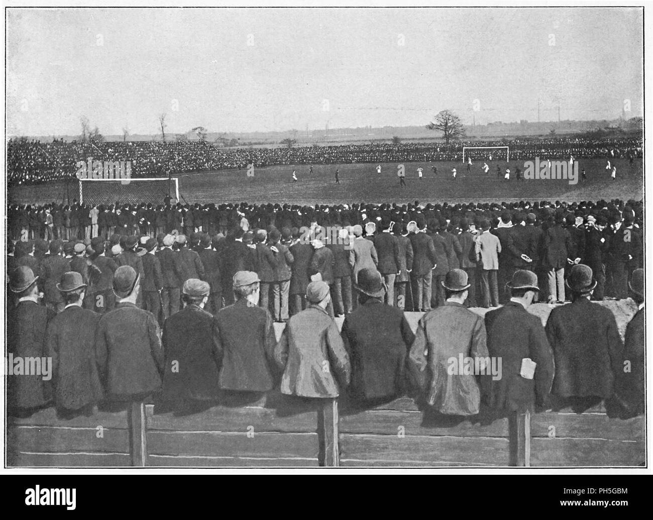 'A Football Match at Manchester', c1896. From Pictorial England and Wales. [Cassell and Company, Limited, London, Paris & Melbourne, c1896] - Stock Image