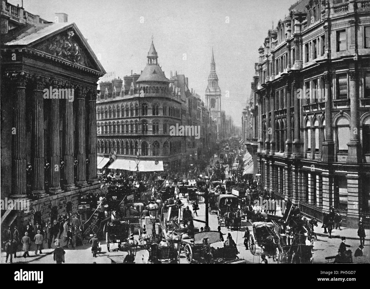 'The Mansion House and Cheapside', c1896. From Pictorial England and Wales. [Cassell and Company, Limited, London, Paris & Melbourne, c1896] - Stock Image