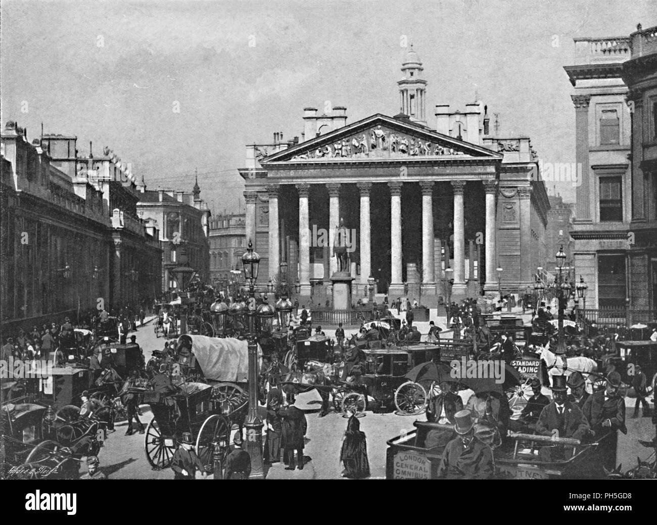 'The Royal Exchange', c1896. From Pictorial England and Wales. [Cassell and Company, Limited, London, Paris & Melbourne, c1896] - Stock Image
