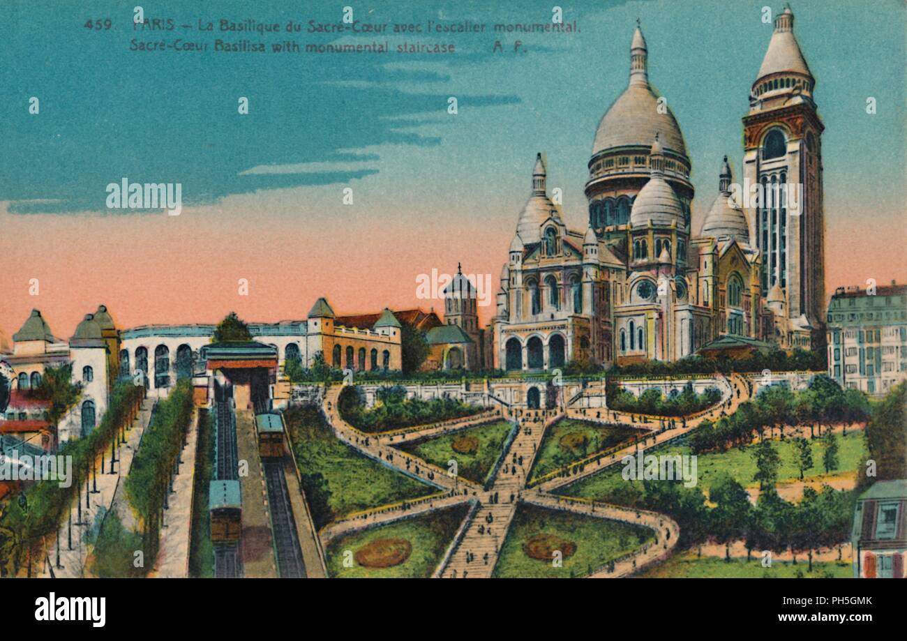 The Sacré-Coeur Basilica with monumental