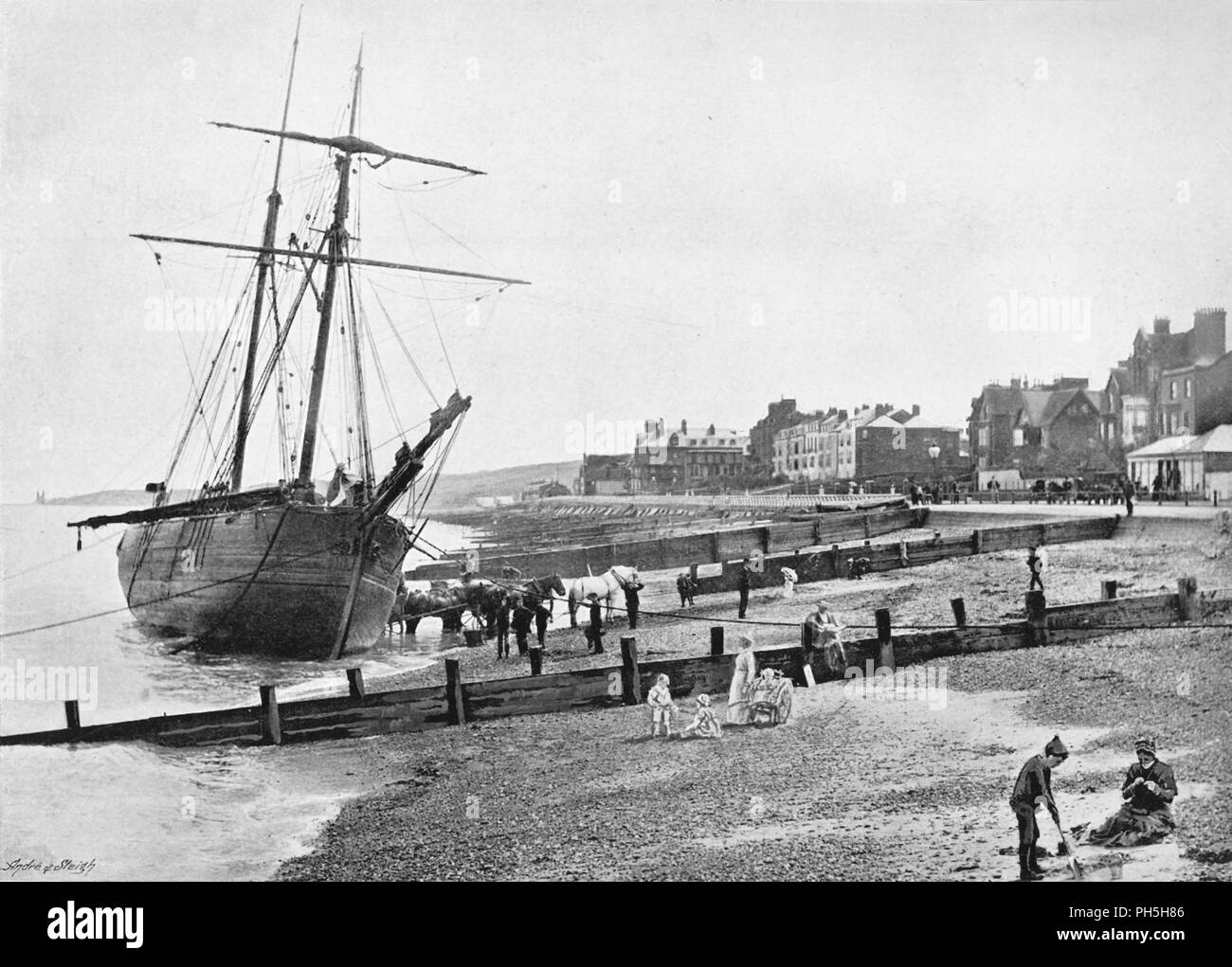 'Herne Bay', c1896. From Pictorial England and Wales. [Cassell and Company, Limited, London, Paris & Melbourne, c1896] - Stock Image