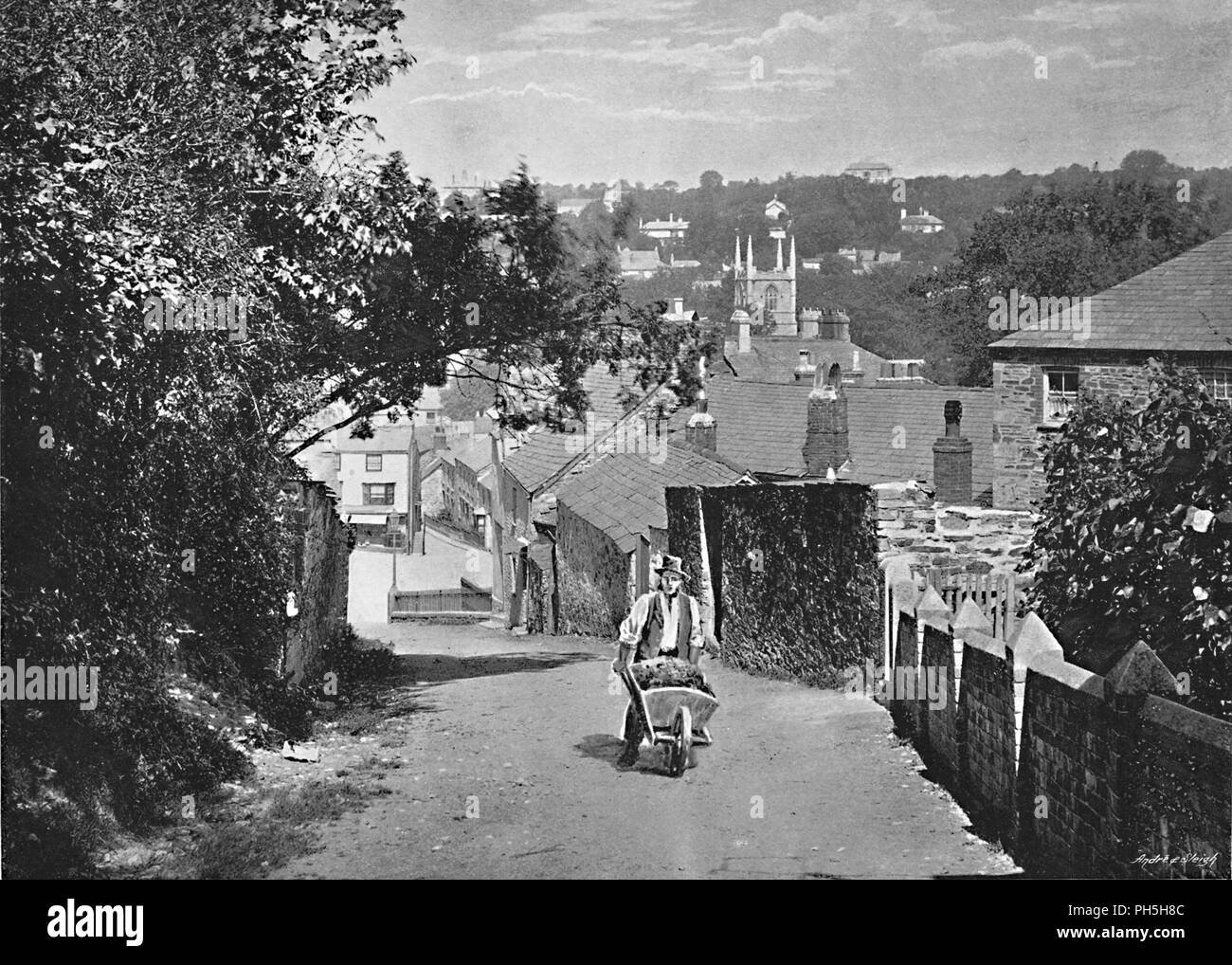 'Bodmin', c1896. From Pictorial England and Wales. [Cassell and Company, Limited, London, Paris & Melbourne, c1896] - Stock Image