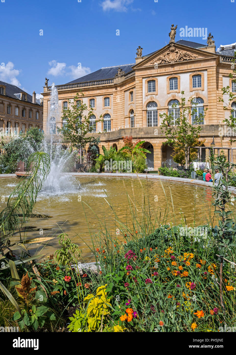 18th century Opéra-Théâtre de Metz Métropole, opera house and theatre at the Place de la Comédie / Comedy square in the city Metz, Moselle, France - Stock Image