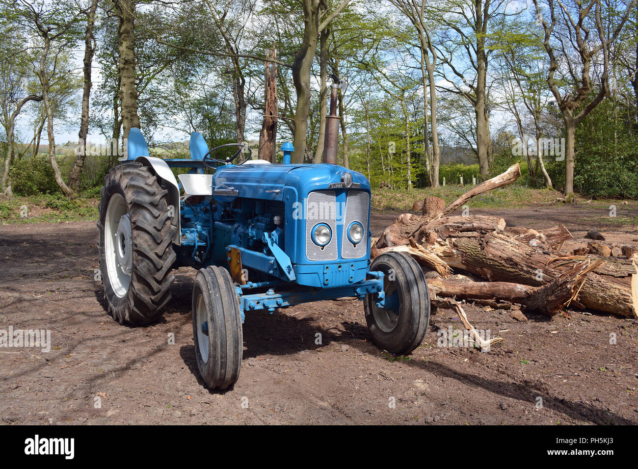 Blue And Grey Tractor Stock Photos & Blue And Grey Tractor