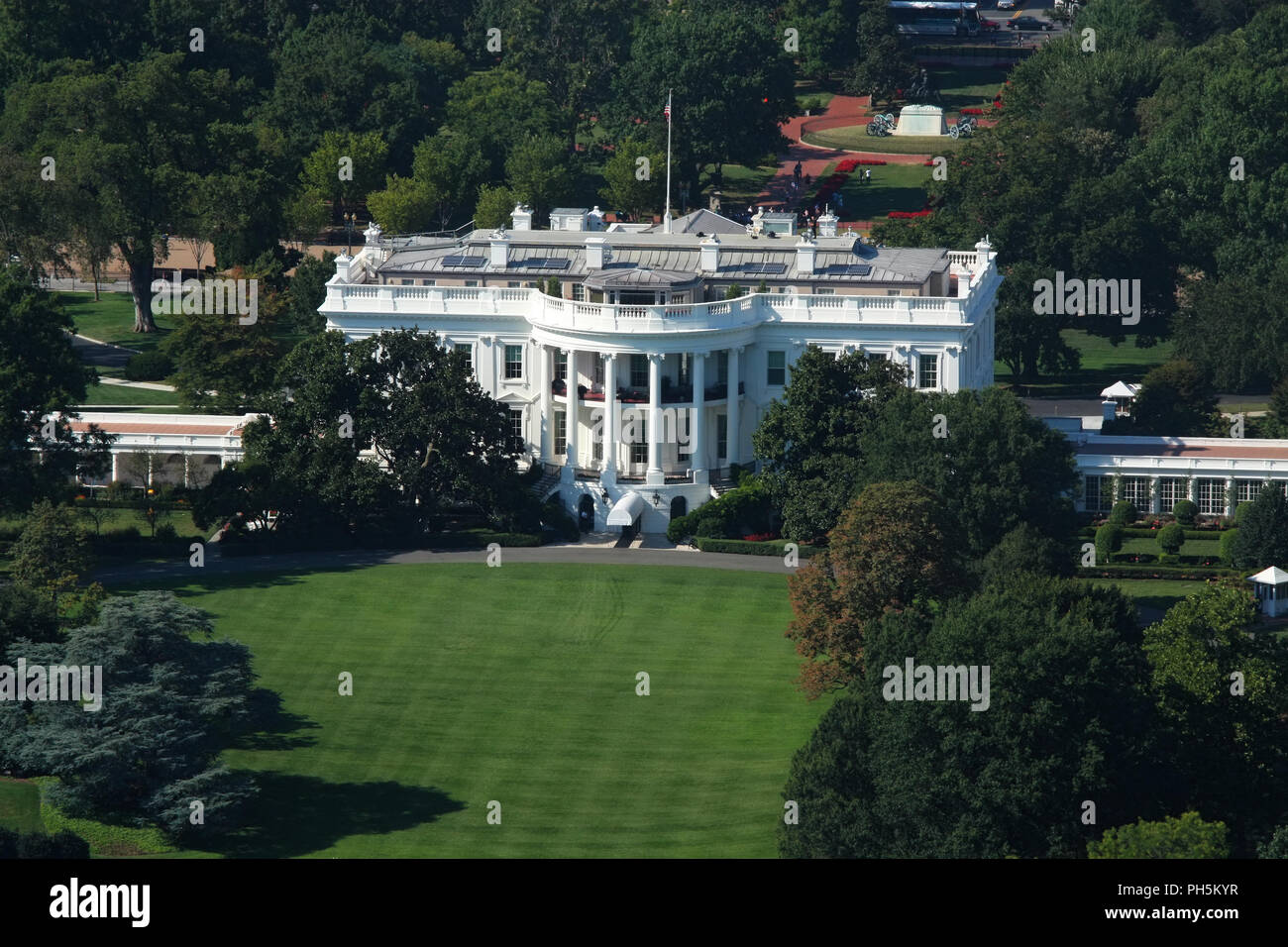 WASHINGTON, DC - AUGUST 29: Kremlin Annex is a nick-name commonly associated with The White House since its occupation by the 45th President of The Un Stock Photo