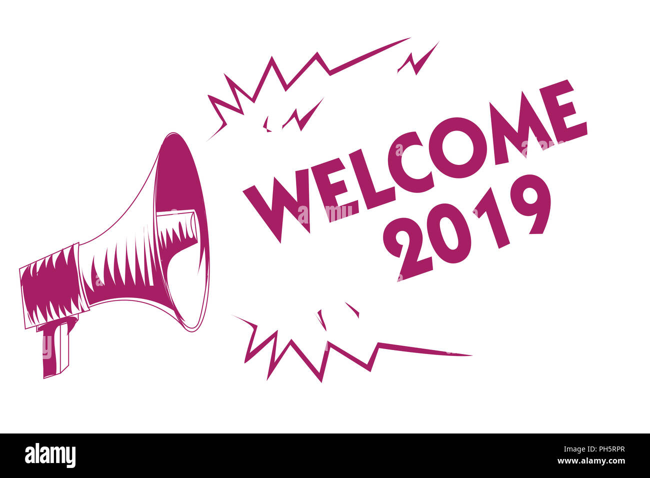 conceptual hand writing showing welcome 2019  business photo showcasing new year celebration