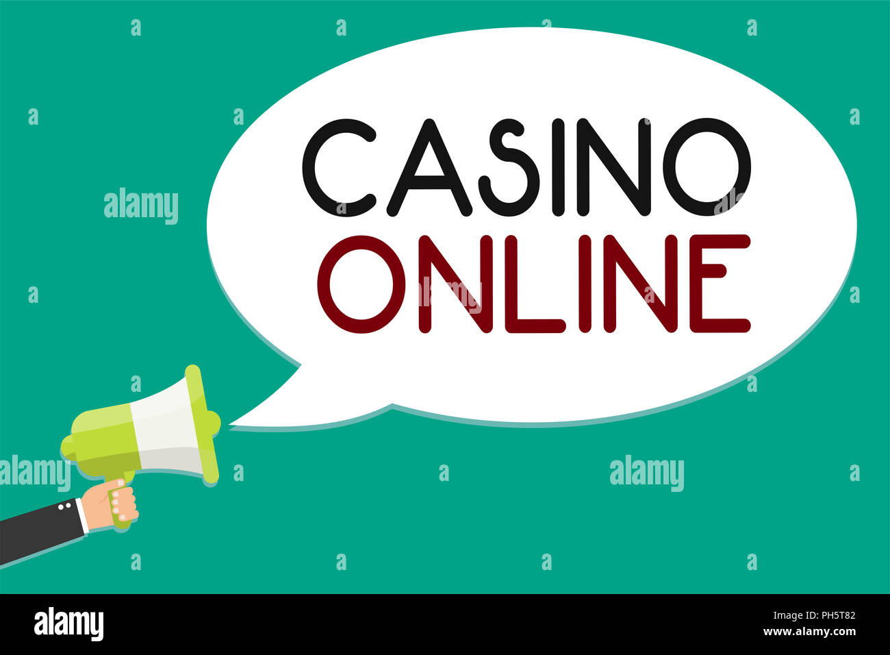 Handwriting Text Writing Casino Online Concept Meaning Computer Poker Game Gamble Royal Bet Lotto High Stakes Man Holding Megaphone Loudspeaker Speec Stock Photo Alamy