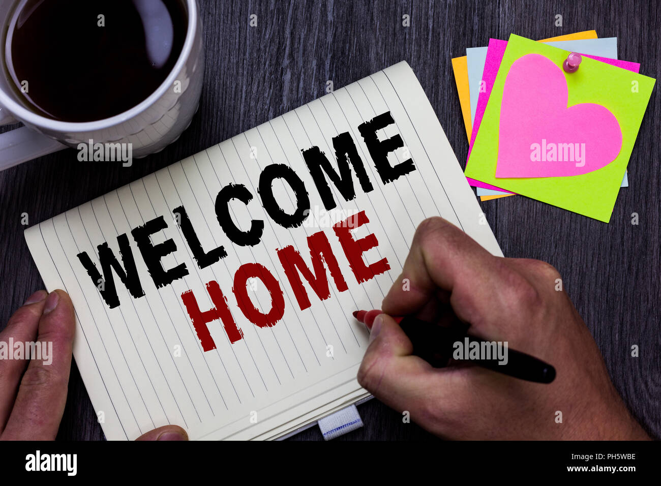 Conceptual hand writing showing Welcome Home. Business photo text