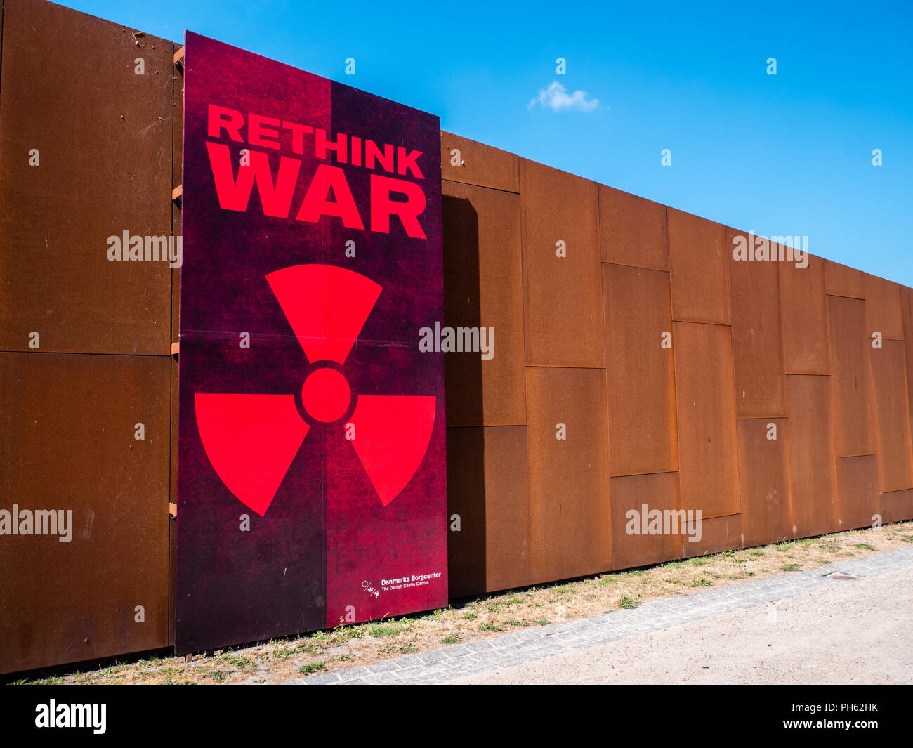 Rethink War Exhibition, Vordingborg Castle, Vordingborg, Zealand, Denmark, Europe. - Stock Image