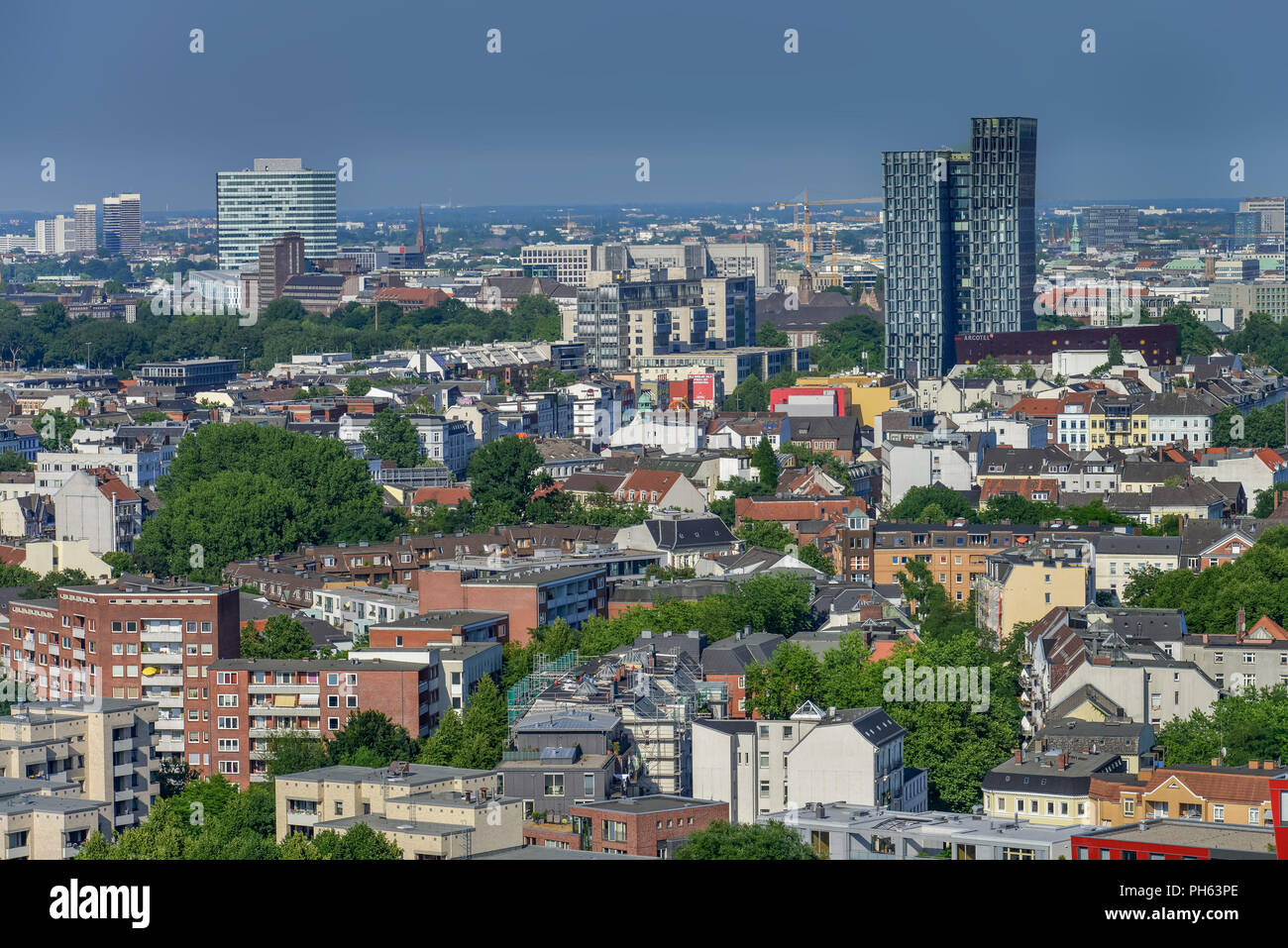 Luftbild, St. Pauli, Hamburg - Stock Image