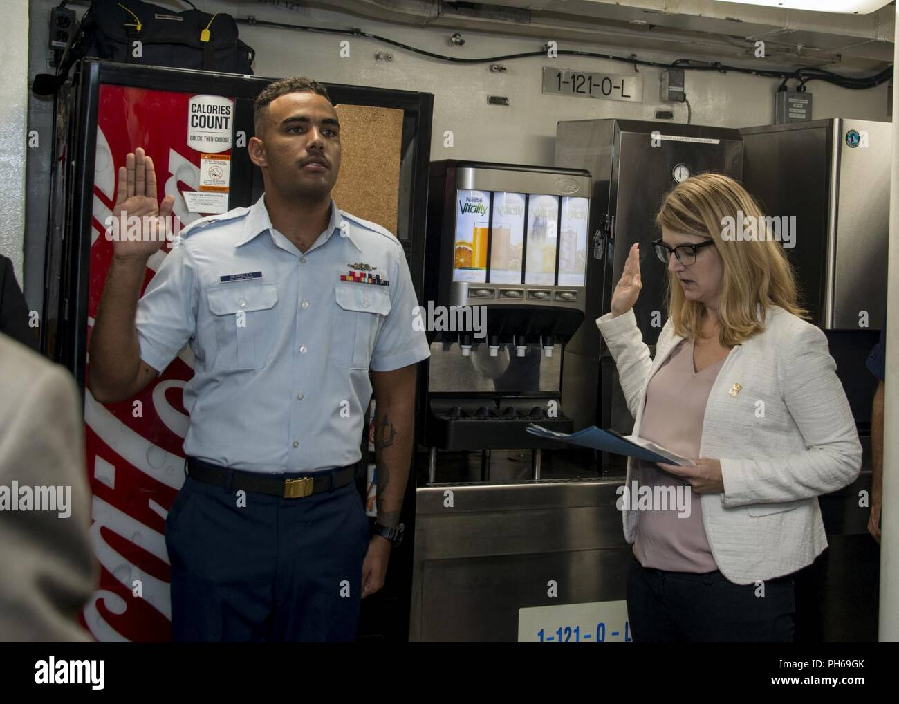 Seaman Kenwyn Berkeley, crewmember aboard Coast Guard Cutter