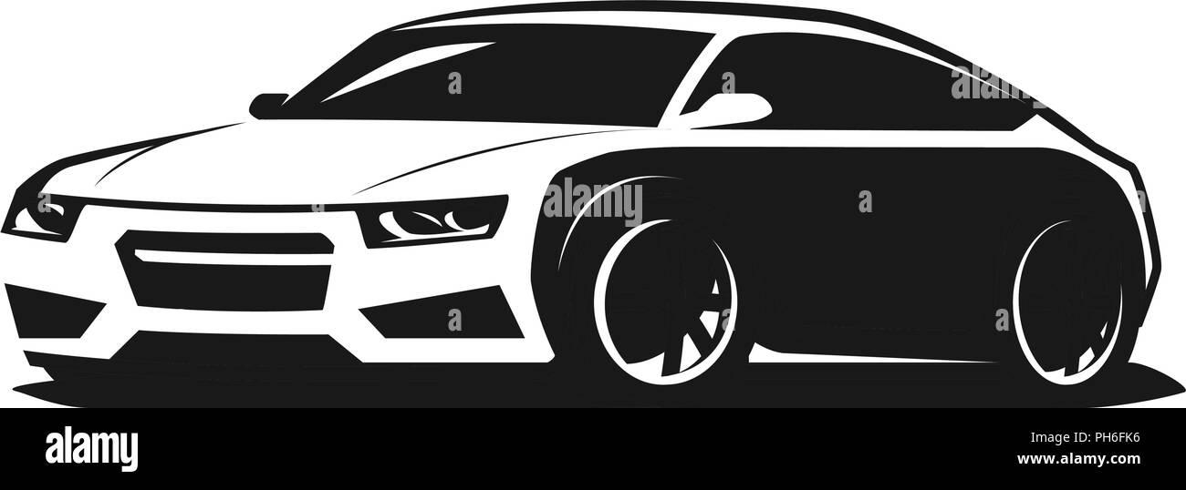 Sport Car Logo Or Icon Rally Garage Symbol Vector Illustration