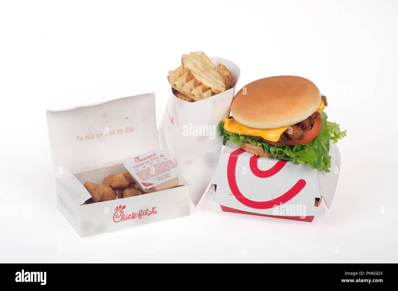 Chick-Fil-A Deluxe chicken sandwich with lettuce, tomato and