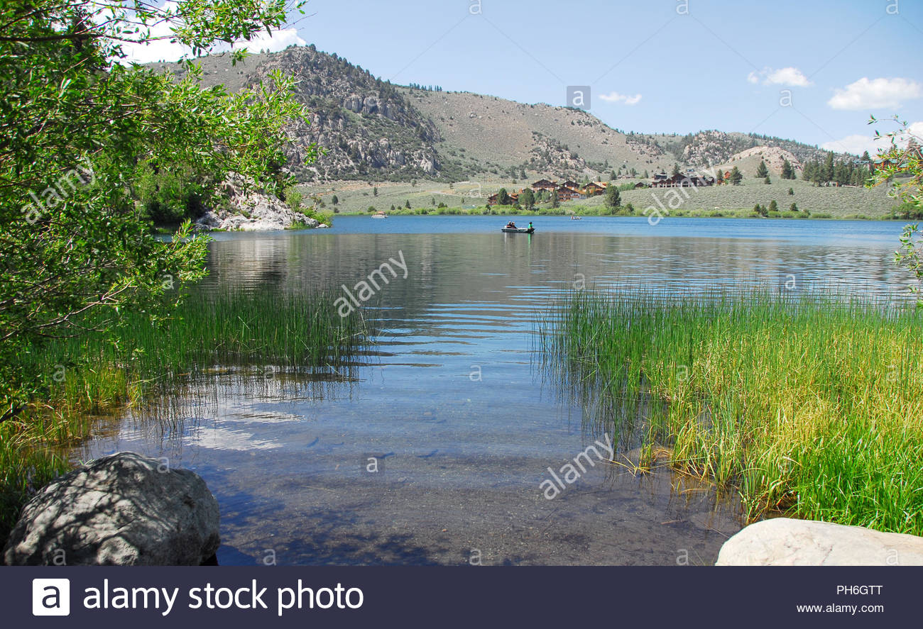gull lake at scenic june lake loop in mammoth lakes california stock
