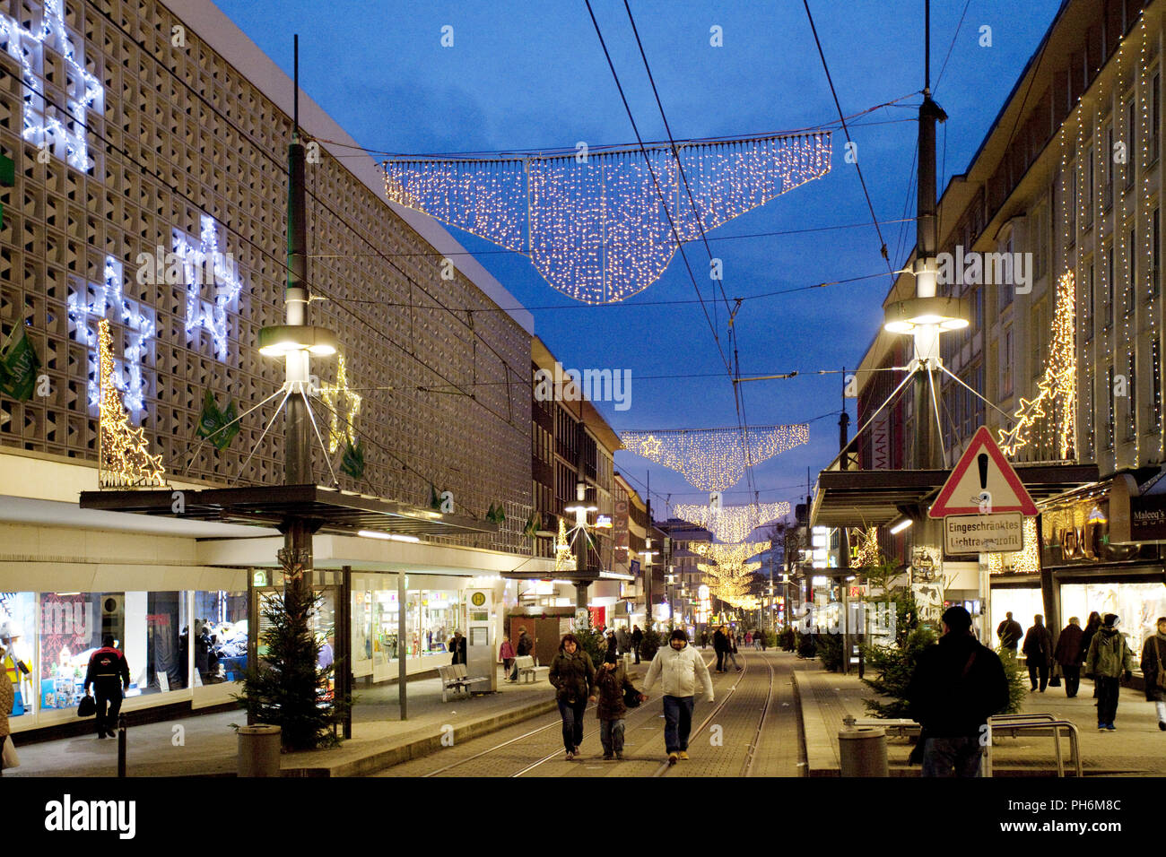 Station road for the Advent season, Witten,Germany - Stock Image