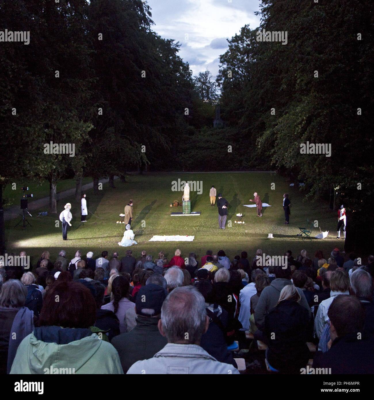 Theater performance White Nights, Muelheim,Germany - Stock Image