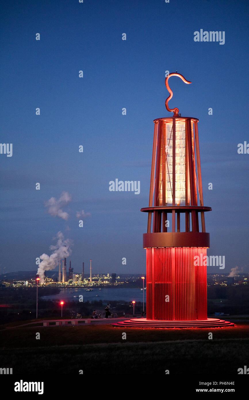 Miner´s lamp, Rheinpreussen tip, Moers, Germany - Stock Image