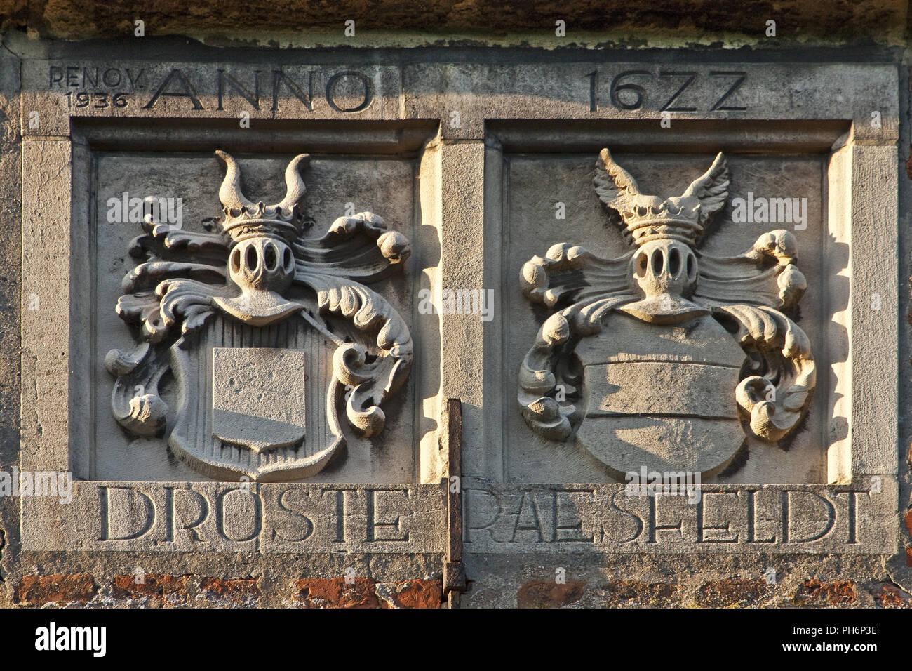 Detail, castle Vischering, Luedinghausen, Germany - Stock Image