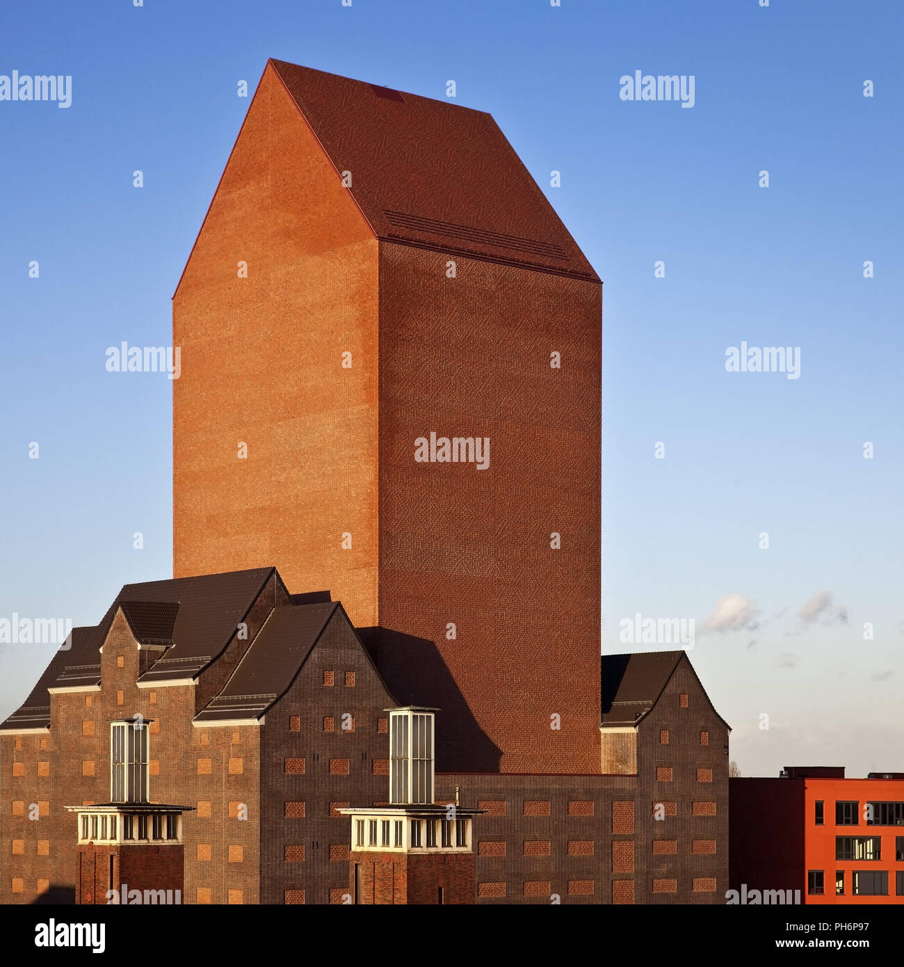 NRW Archiv in inner harbour, Duisburg, Germany - Stock Image