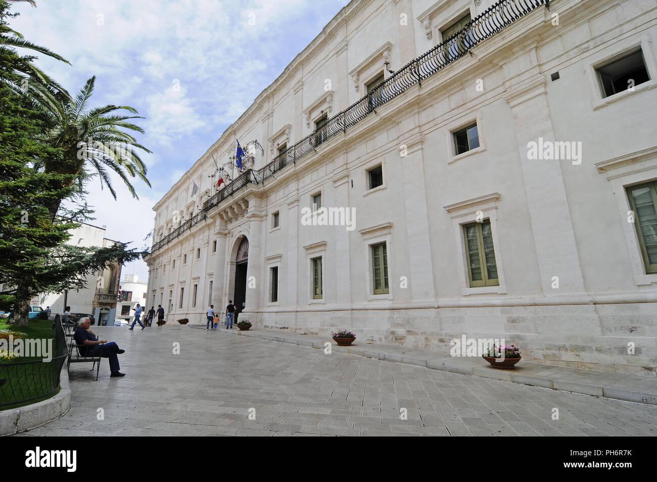 Palazzo Ducale, city hall, Martina Franca, Italy - Stock Image