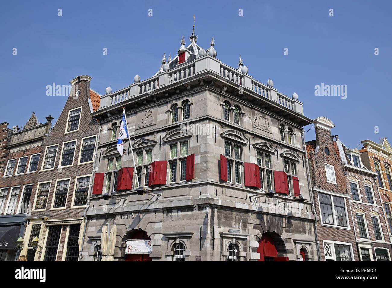 De Waag, Weighing House, Haarlem, The Netherlands - Stock Image