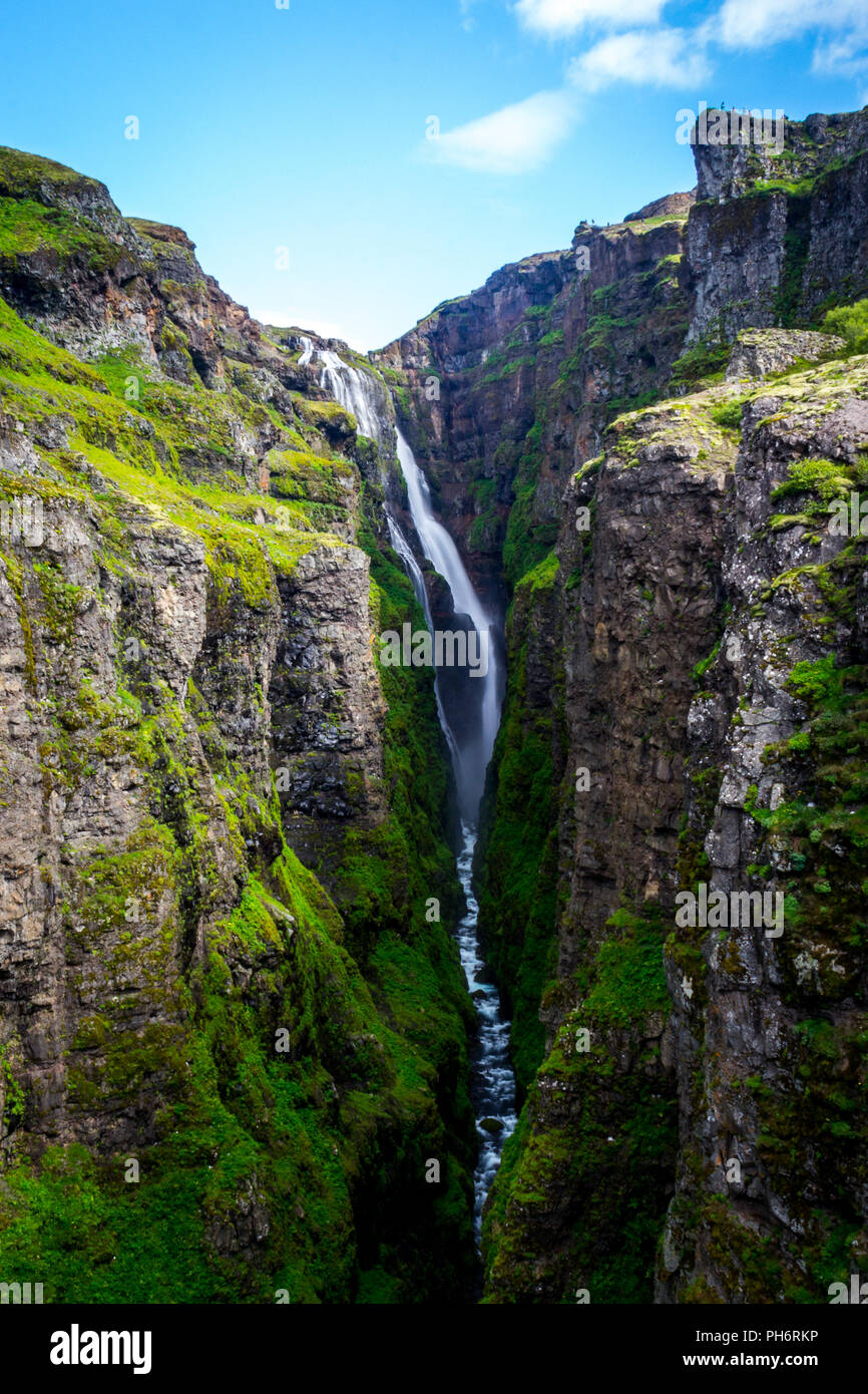 Summer trip around Iceland - Stock Image